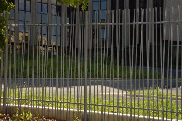 Cour des comptes européenne - Clôture en bambou